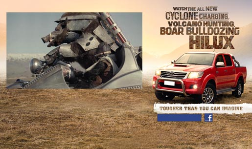 Toyota Hilux Boar and Ape