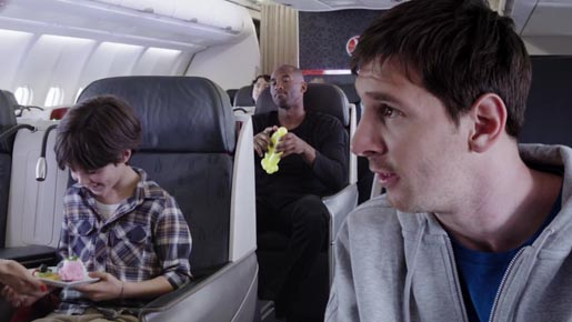 Turkish Airlines Legends on Board Kobe vs Messi