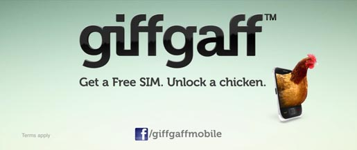 giffgaff Unlock a Chicken