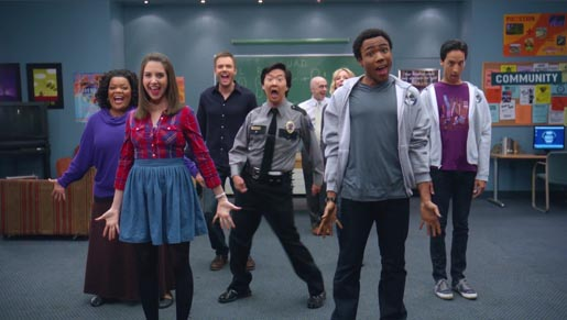 NBC Brotherhood of Man ad with cast of Community