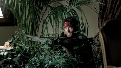 DirecTV Charlie Sheen in Platoon reenactment