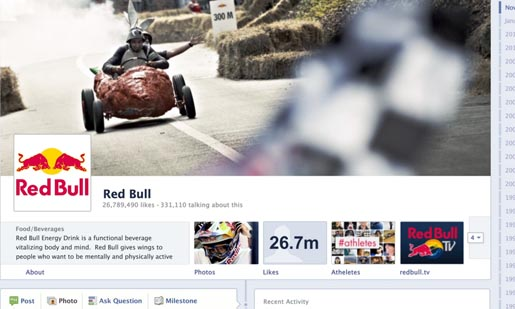 Red Bull Facebook Page
