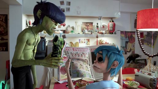 Gorillaz Converse 2D and Murdoc
