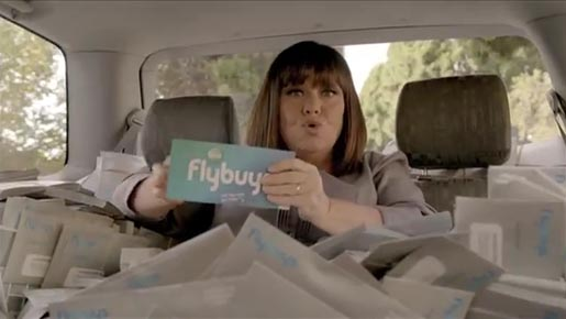 Dawn French in Coles Fly Buys ad