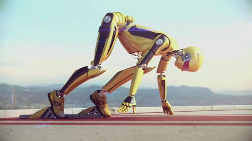 Nike Robot in Running Free short film
