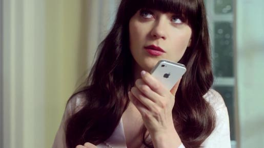 Zooey Deschanel iPhone ad