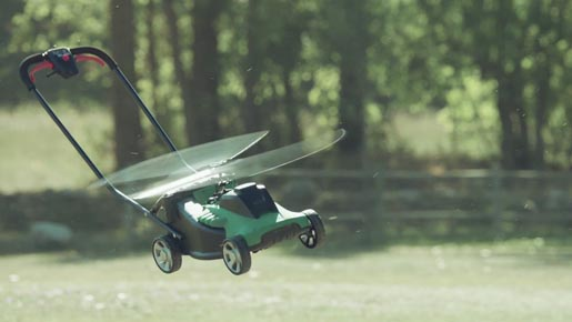 Avios Flying Lawnmower