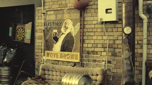 Beer Fairyland Vote Brown