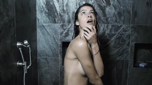 Carla Houston in the shower