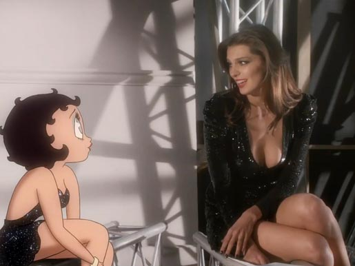 Betty Boop and Daria Werbowy in Hypnose Star commercial