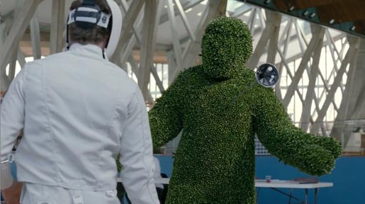 Dow Hopeful Topiary Fencer