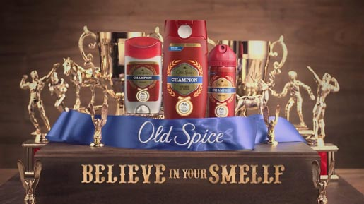 Old Spice Champion Trophies I Live Forever