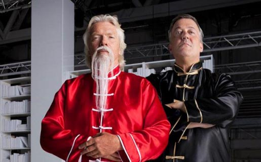Richard Branson and Stephen Fry in Virgin Media Kung Fu ad