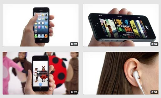 Apple iPhone 5 TV ads