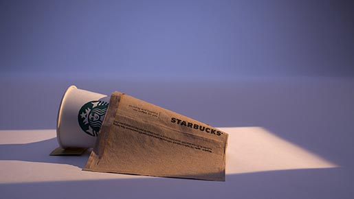 Starbucks Mondays can be great commercial - blanket