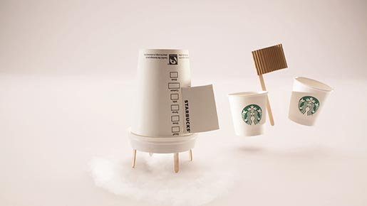 Starbucks Mondays can be great commercial - moon landing