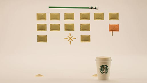Starbucks Mondays can be great commercial - Space Invaders