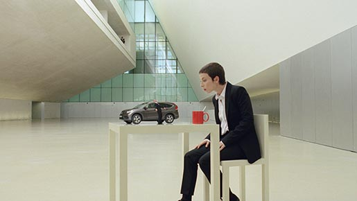 Honda Illusions Coffee Cup and Table