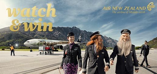 Air New Zealand Watch and Win