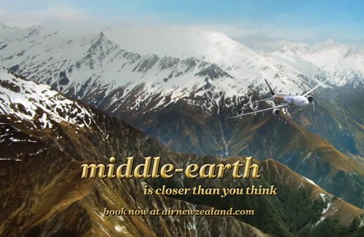 Air New Zealand Middle Earth is closer than you think