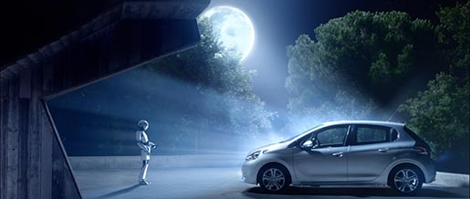 Peugeot Pinnochio in moonlight