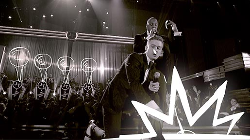Grammys Music Unleashes Us Justin Timberlake and Jay Z