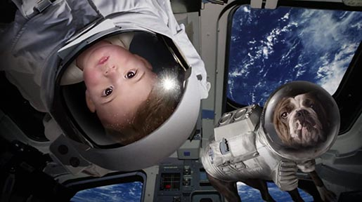 E*Trade Baby in space