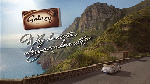 Audrey Hepburn Galaxy chocolate ad