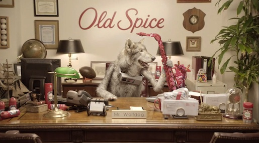 Old Spice Wolfdog with sax