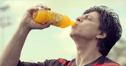 Shahrukh Khan drinking Frooti