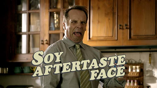 Soy aftertaste face