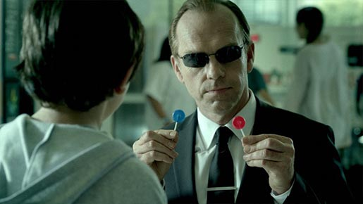 GE Agent Smith with lollipops