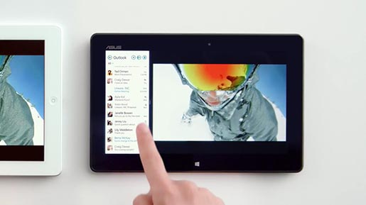 Windows 8 Tablet and iPad