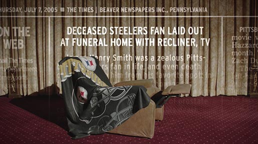 ESPN Team Spirit Steelers Fan Recliner