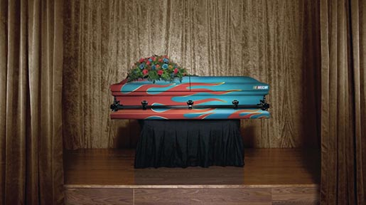 ESPN Team Spirit NASCAR Coffin