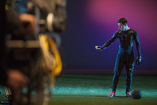Leo Messi in Adidas LED commercial