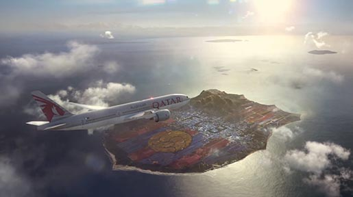 Qatar Airways and FCB Island