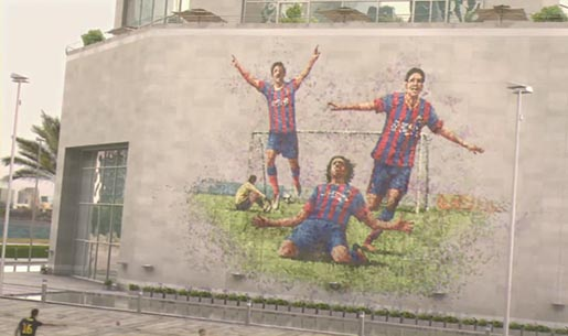 Qatar Airways and FCB Wall Painting