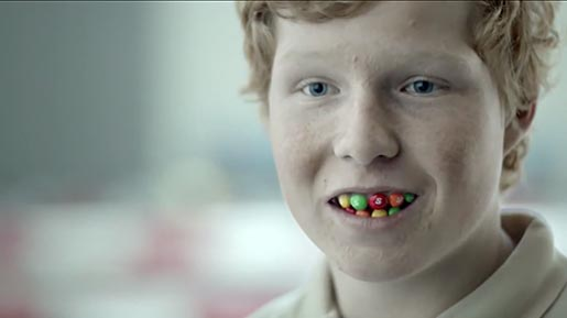 Skittles Smile commercial