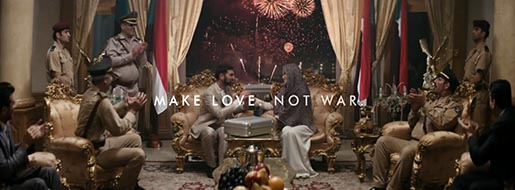 New Axe Peace Make Love Not War - Fireworks