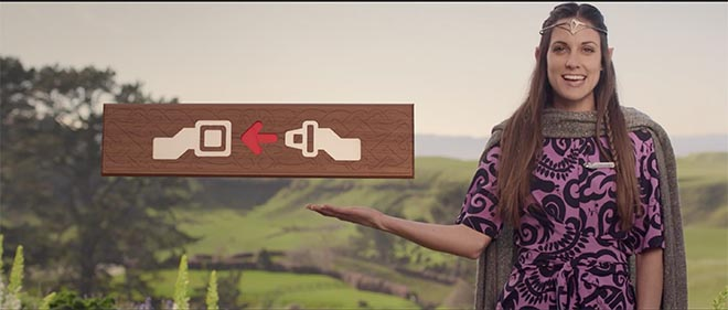 Air New Zealand Hobbit Safety Film
