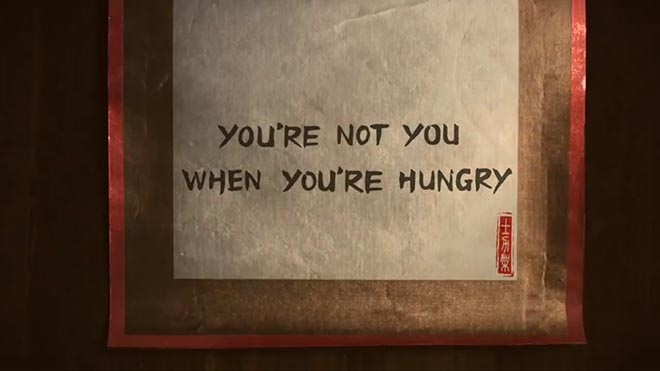 Snickers You're Not you when you're hungry - Chinese wall hanging