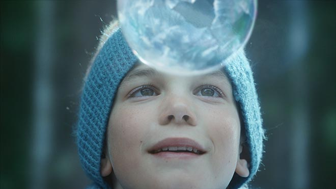 Sony 4K Ice Bubbles Boy