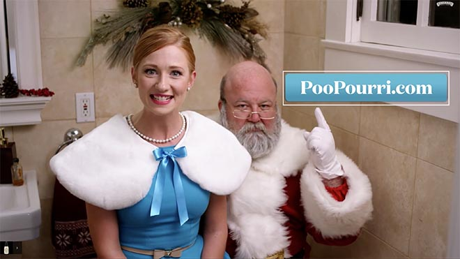 Poo Pourri Santa and Bethany Woodruff