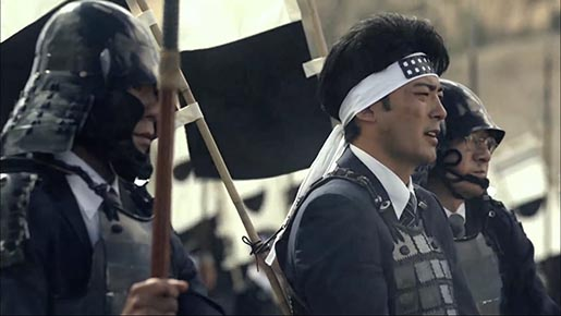 Nissin Cup Noodle Samurai in Globalization commercial