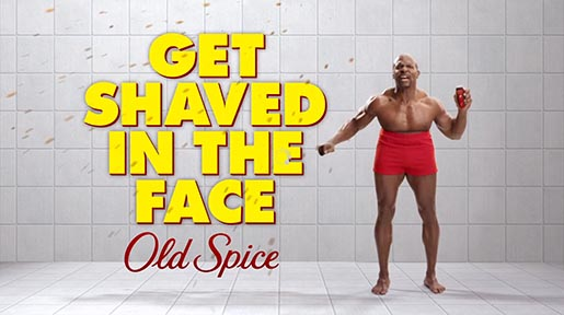 Old Spice Get Shaved In The Face
