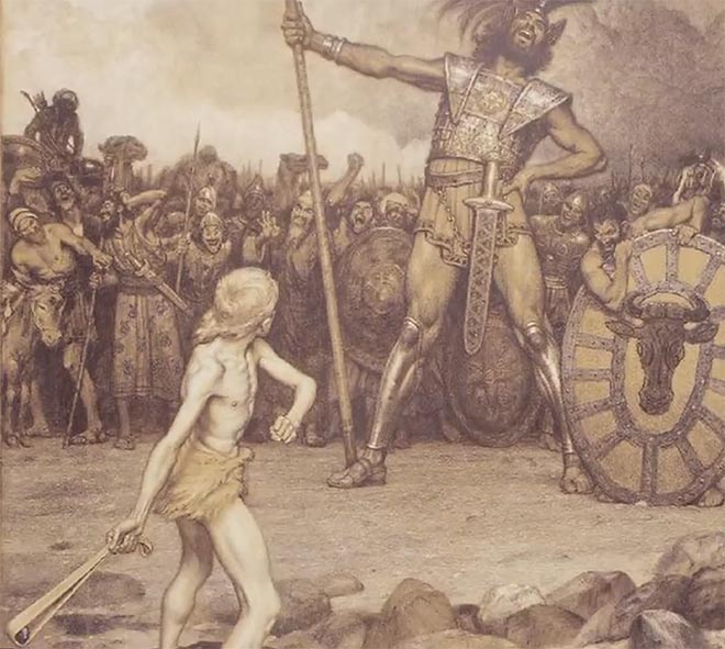 David and Goliath - Osmar Schindler