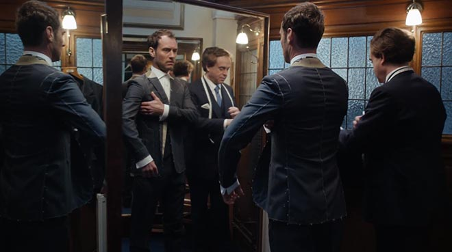 Jude Law with tailor in Gentleman's Wager commercial
