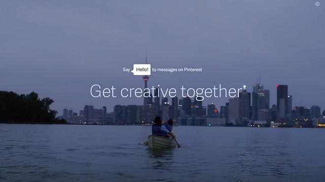 Pinterest Say Hello to Messages - Get Creative Together