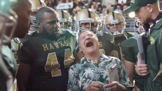 Snickers Coach ad with Robin Williams
